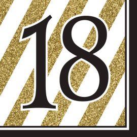 16 Tovaglioli 18 Nero e Oro