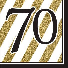 16 Tovaglioli 70 Nero e Oro