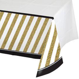 Tovaglia Oro e Nero 274 x 137 cm