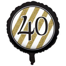 Palloncino 40 Nero e Oro 45cm