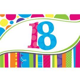 8 Inviti 18 Anni a Righe e Pois
