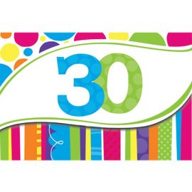 8 Inviti 30 Anni a Righe e Pois