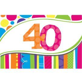 8 Inviti 40 Anni a Righe e Pois