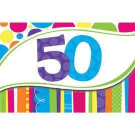 8 Inviti 50 Anni a Righe e Pois