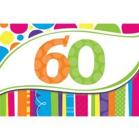 8 Inviti 60 Anni a Righe e Pois