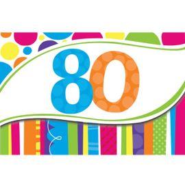 8 Inviti 80 Anni a Righe e Pois