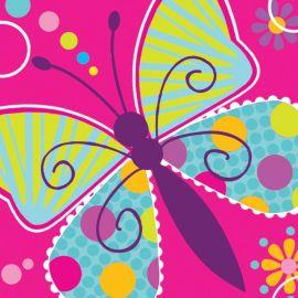 16 Tovaglioli Farfalle 25 cm