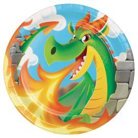 8 Piatti Dragons 23 cm