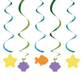 5 Decorazioni Appese Sirena