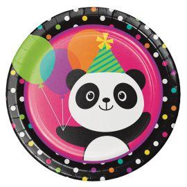 8 Piatti Panda 23 cm
