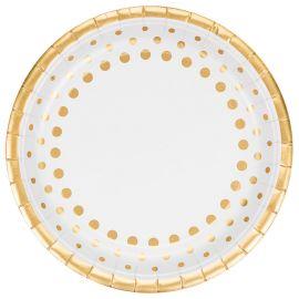 8 Piatti Sparkle Gold 23 cm
