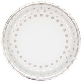 8 Piatti Sparkle Silver 23 cm
