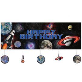 Cartello Space Blast Personalizzato 150 x 50 cm