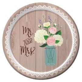 Piatti Matrimonio Rustico18 cm