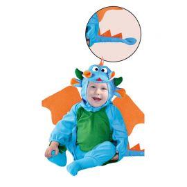 Costume Draghetto da Neonato Azzurro e Verde