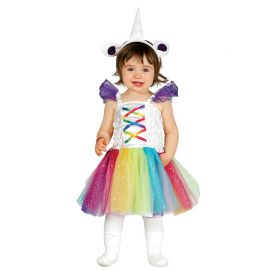 Costume da Unicorno Colorato per Neonato