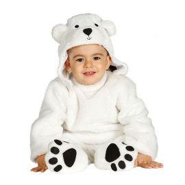 Costume Orso Polare Bianco Neonato