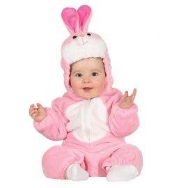 Costume da Coniglietto Rosa per Neonato