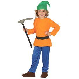 Costume Gnomo del Bosco Arancione per Bambino