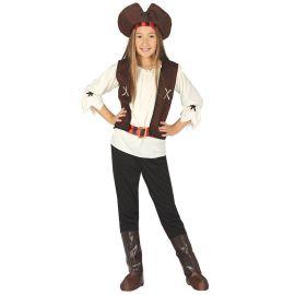 Costume Pirata Corsaro dei 7 Mari per Bambina