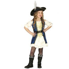 Costume Capitano dei Pirati Elegante per Bambina