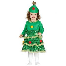 Costume Albero di Natale per Neonato Brillante