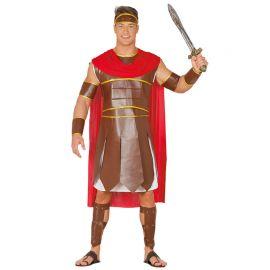 Costume Guerriero Romano Uomo Mantello Rosso