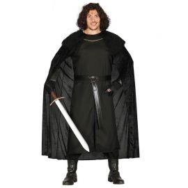 Costume da Vigilante Medievale per Uomo con Tunica Nera