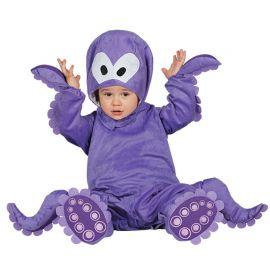 Costume Polpo da Neonato Viola