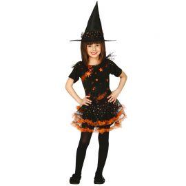 Costume Strega Bambina con Stampa