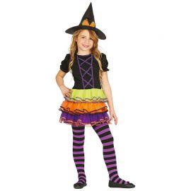 Costume Strega Tricolore per Bambina