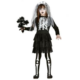 Costume da Sposa Scheletro Mostruosa per Bambina