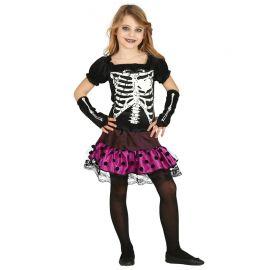 Costume Urban Scheletro per Bambina con Pois