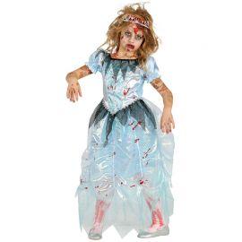 Costume da Principessa Zombie Azzurra per Bambina