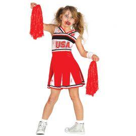 Costume Cheerleder Zombie Bambina
