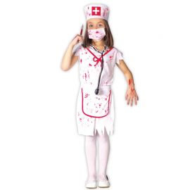 Costume da Infermiera Zombie Terrificante per Bambina