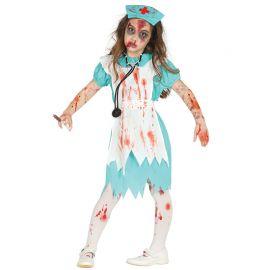 Costume da Infermiera Zombie Bambina con Grembiule