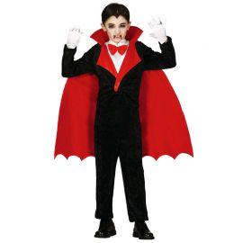 Costume da Vampiro Bambino con Mantello a Punta Rosso