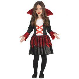 Costume da Baronessa Vampiro per Bambina con Dettagli