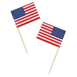 50 Stuzzicadenti Bandiera Americana