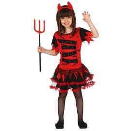 Costume da Diavolessa Bambina Tutù con Dettagli in Tulle