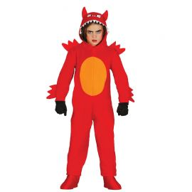 Costume da Diavolo Mostruoso per Bambino con Tuta Rossa