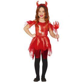 Costume da Diavolessa per Bambina con Vestito Brillante