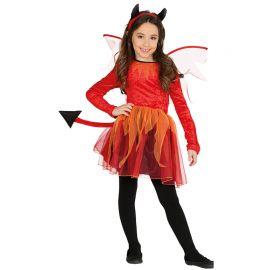 Costume da Diavolessa per Bambina con Vestito Decorato
