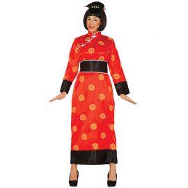 Costume Cinese Donna Kimono Rosso