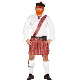 Costume Scozzese Uomo Camicia Con Fascia