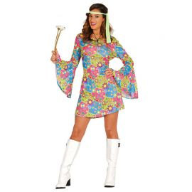 Costume da Flower Power per Donna Hippie