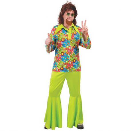 Costume da Flower Power per Uomo Hippie