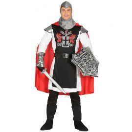 Costume da Cavaliere Medievale per Uomo Mantello Rosso