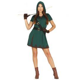 Costume da Cacciatrice con Cappuccio per Donna